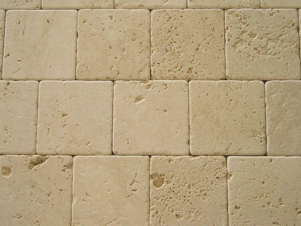 Travertino chiaro anticato for Piastrelle esterno 15x15