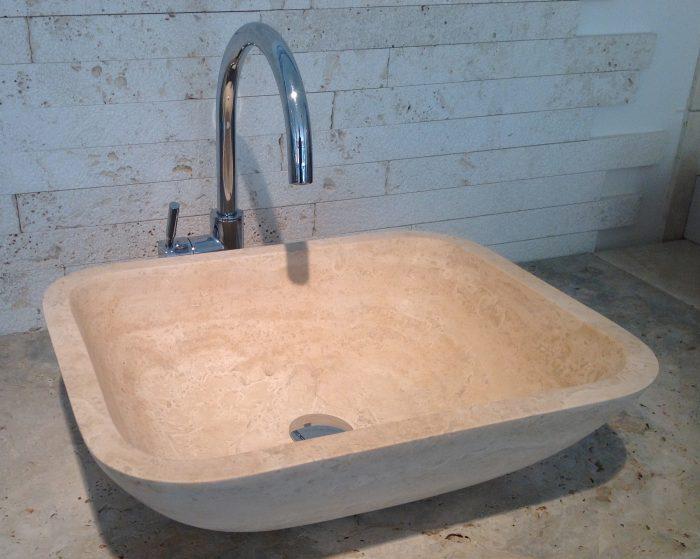 travertino lavabo-conca-quadra