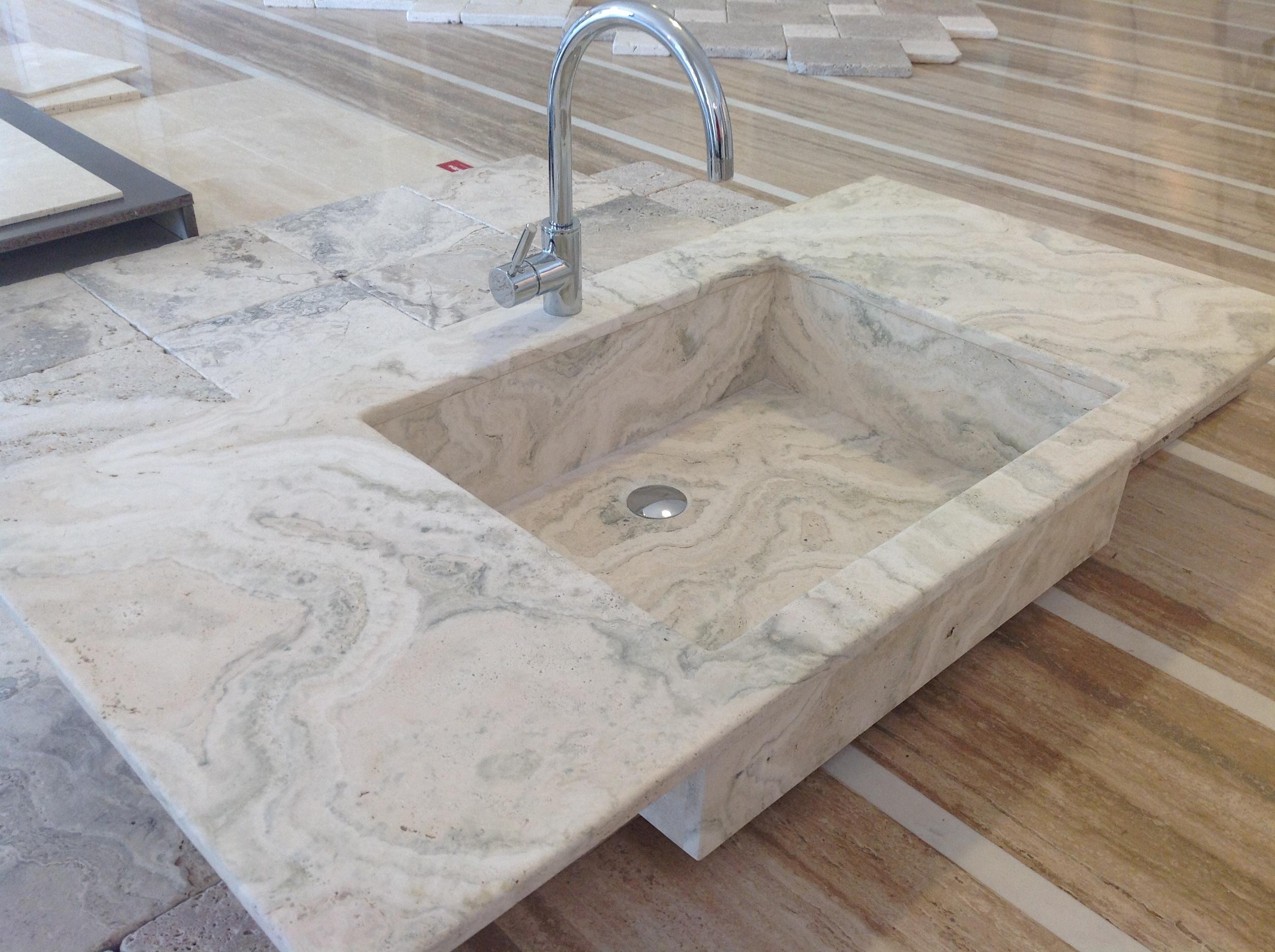 Lavabo da incasso su misura sitem italia - Lavabo bagno marmo prezzi ...