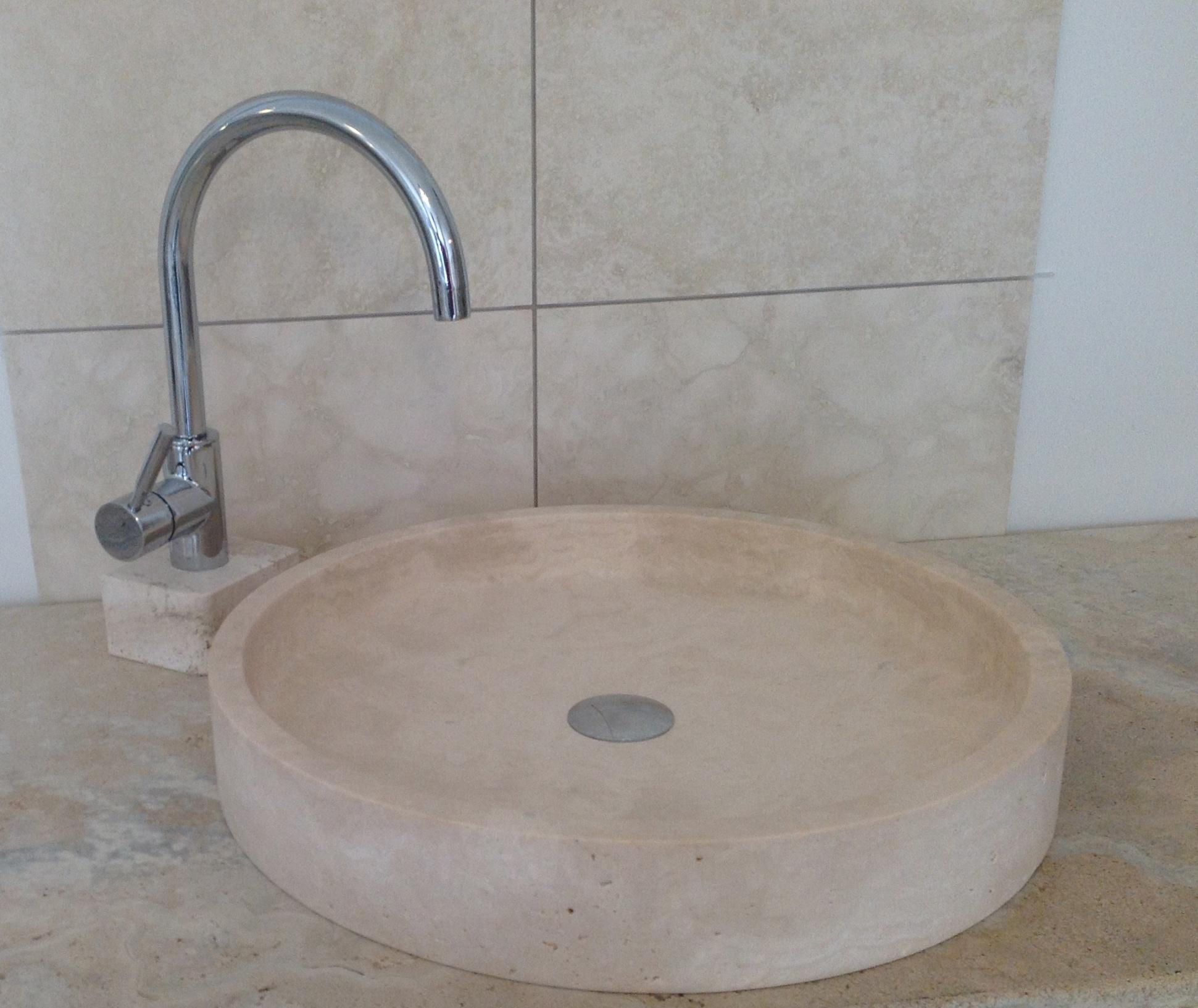 travertino lavabo-piatto
