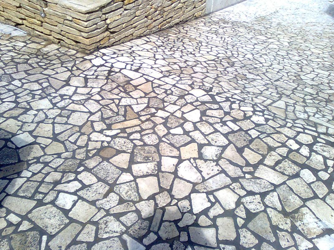travertino anticato chiaro palladiana esterno