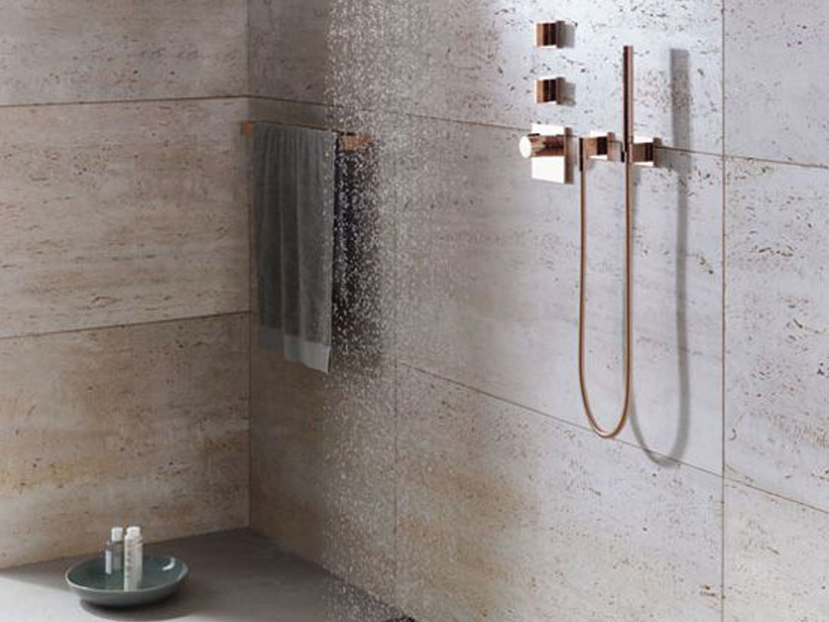 Bagno minimal travertino sitem italia