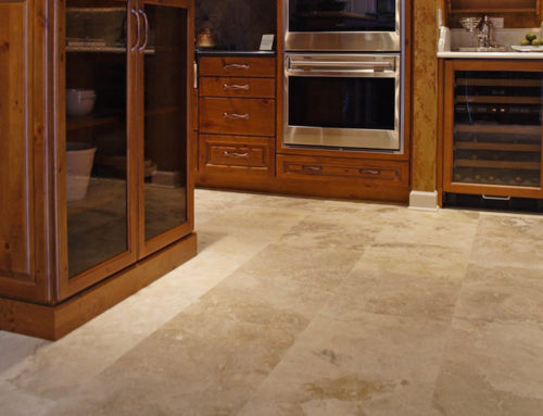 Travertine and wood in your kitchen