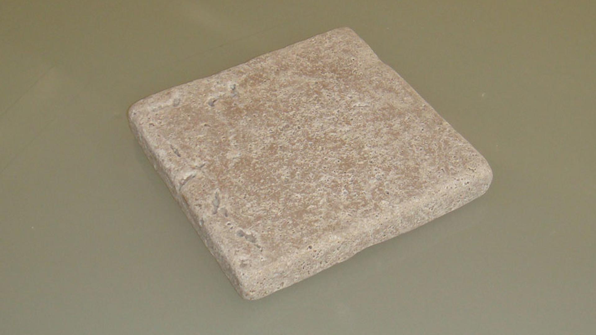 travertino mattonella-noce anticato singola